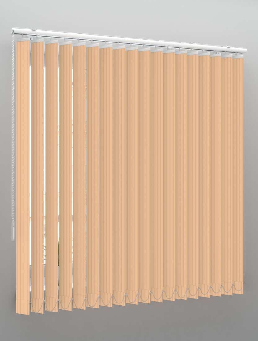 Вертикальные пластиковые жалюзи Рибкорд персиковый