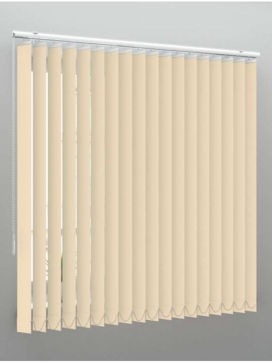 Вертикальные пластиковые жалюзи Стандарт бежевый