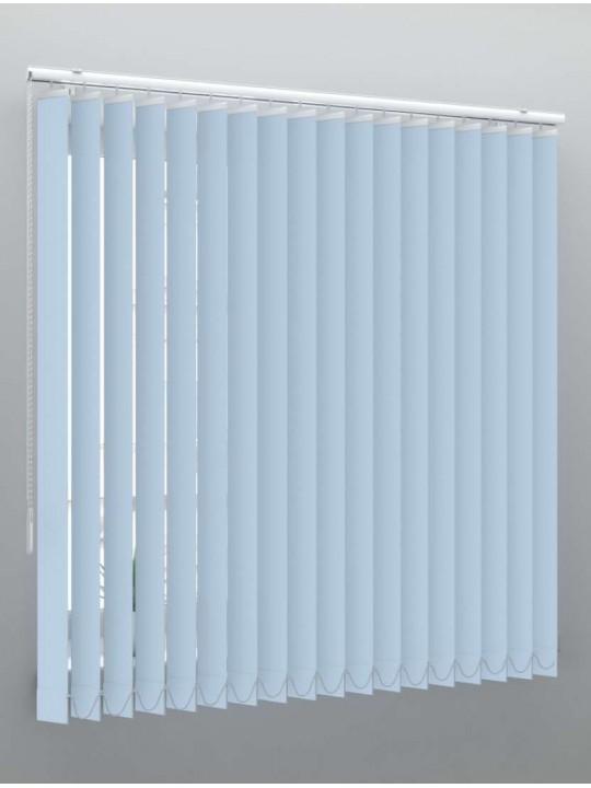 Вертикальные пластиковые жалюзи Стандарт голубой