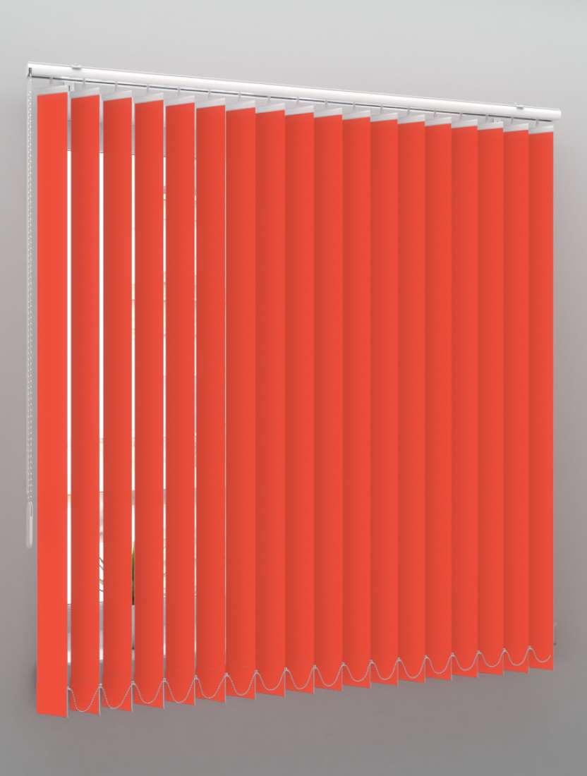 Вертикальные пластиковые жалюзи Стандарт красный