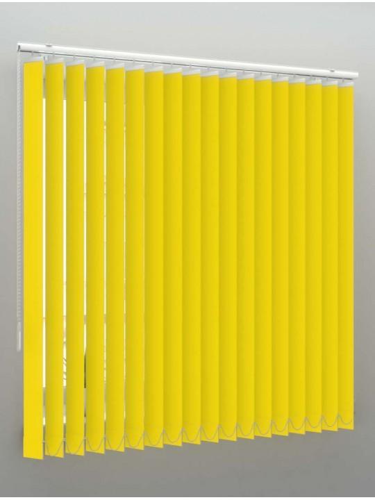 Вертикальные пластиковые жалюзи Стандарт желтый
