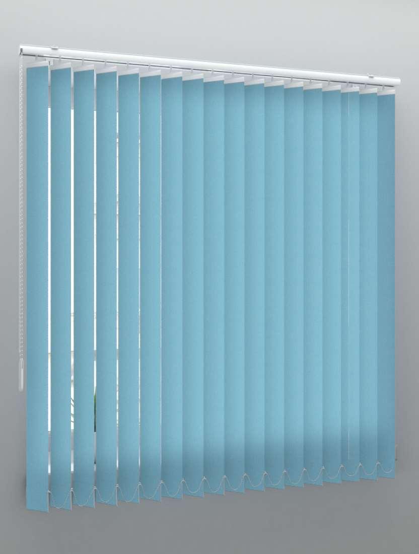Вертикальные тканевые жалюзи Лайн II синий