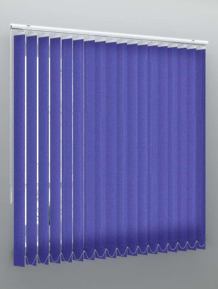 Вертикальные тканевые жалюзи Лайн II темно-синий