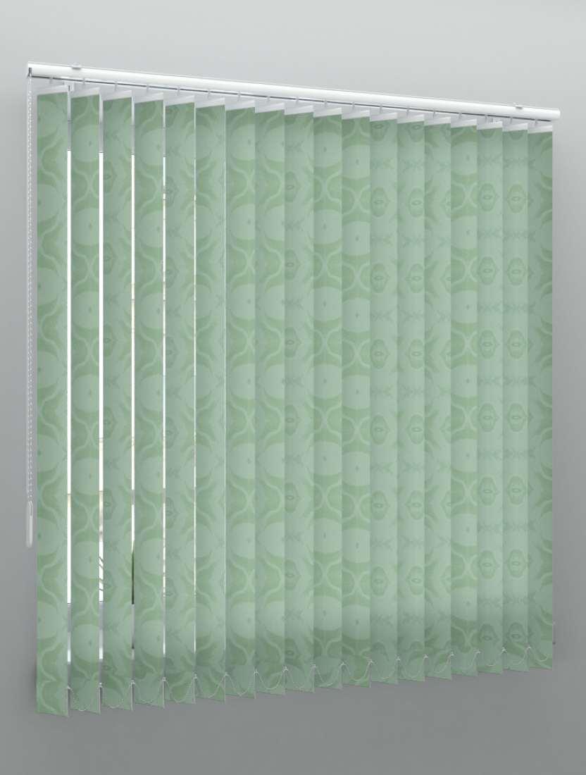 Вертикальные тканевые жалюзи Рио светло-зеленый