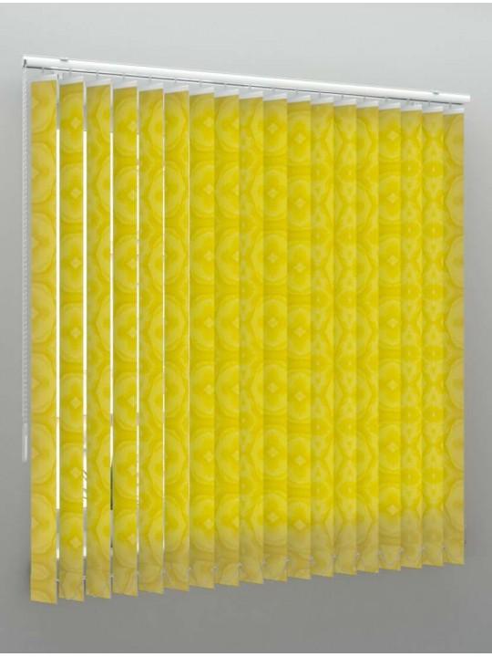 Вертикальные тканевые жалюзи Рио желтый