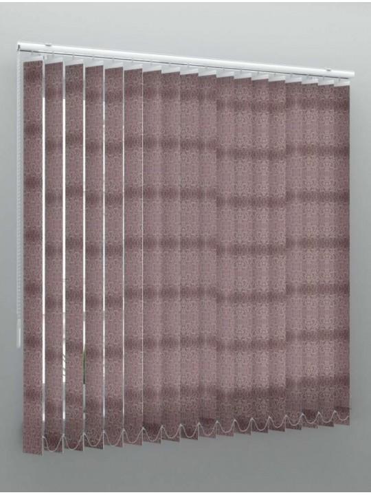 Вертикальные тканевые жалюзи Рококо коричневый