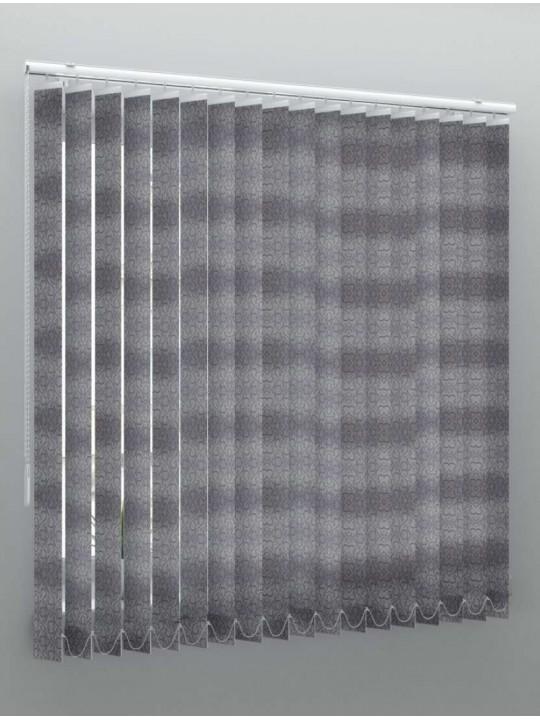 Вертикальные тканевые жалюзи Рококо серый