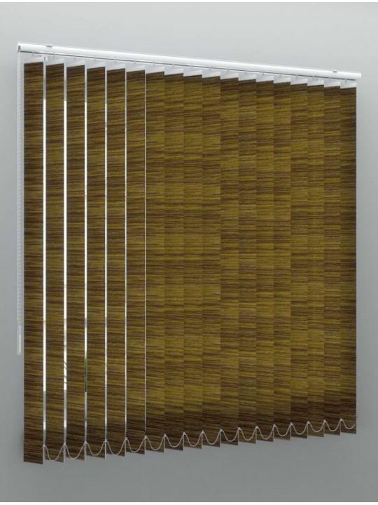 Вертикальные тканевые жалюзи Скрин коричневый