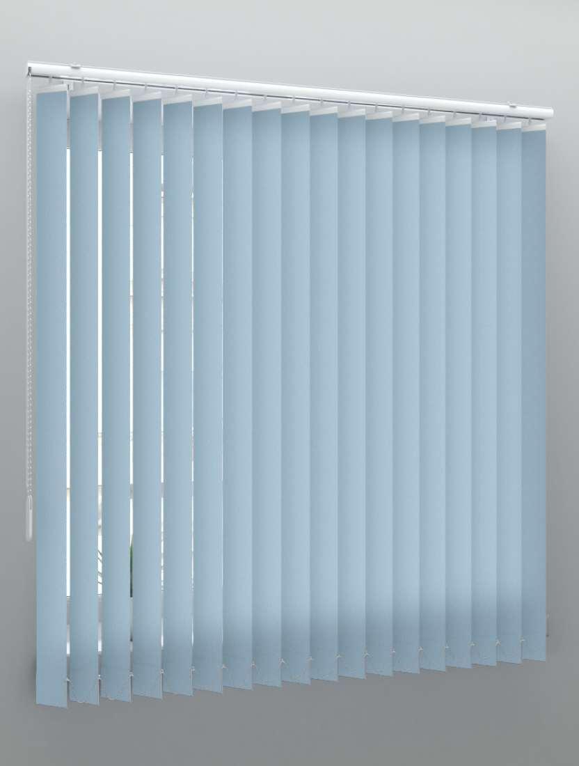 Вертикальные тканевые жалюзи Сиде голубой
