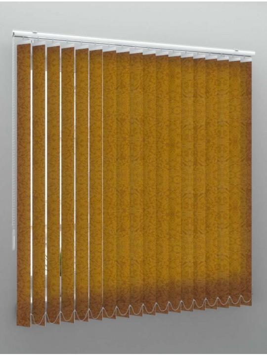 Вертикальные тканевые жалюзи Шёлк коричневый