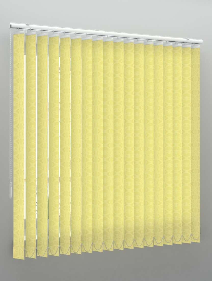 Вертикальные тканевые жалюзи Рио светло-желтый