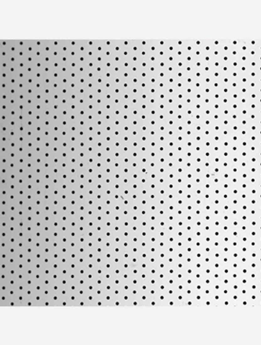 Вертикальные алюминиевые жалюзи Перфорация серебро металлик