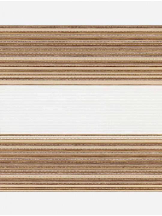 Рулонные жалюзи Зебра мини Дакота светло-коричневый