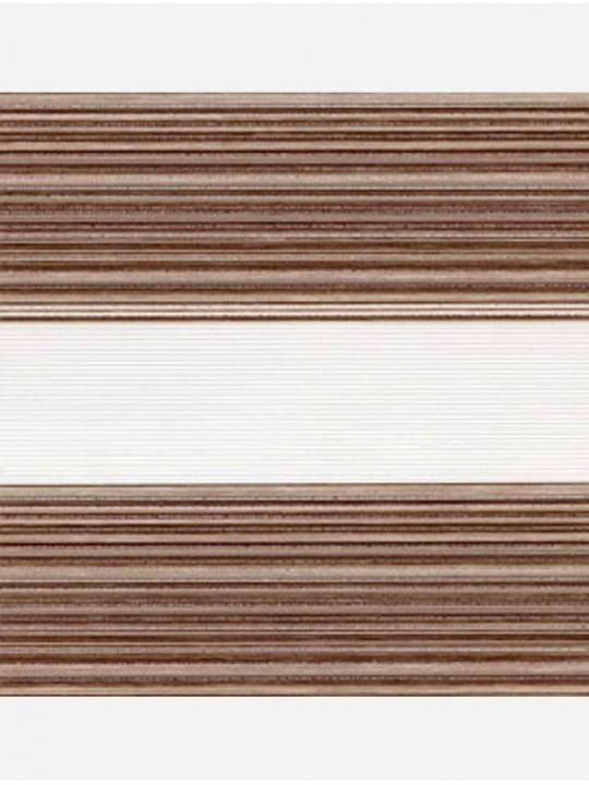 Рулонные жалюзи Зебра мини Дакота коричневый