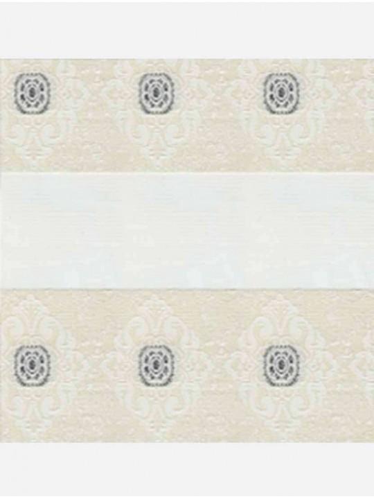 Рулонные жалюзи Зебра мини Дамаск белый