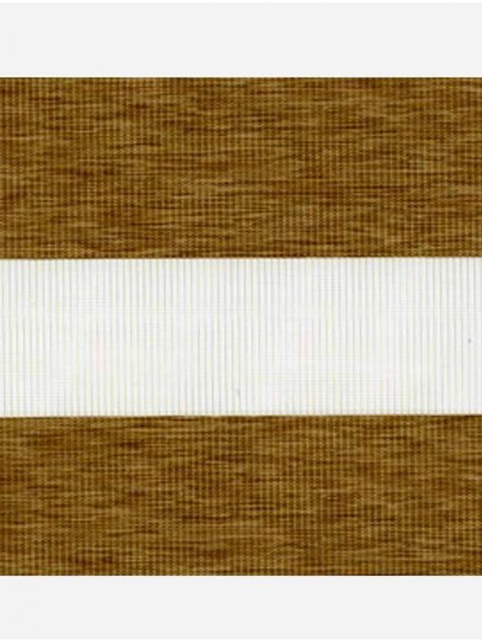 Рулонные жалюзи Зебра мини Этник светло-коричневый