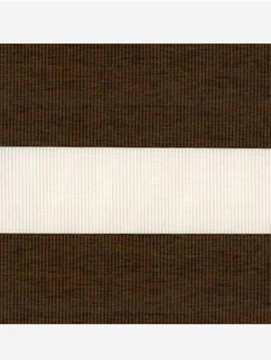 Рулонные жалюзи Зебра мини Этник темно-коричневый