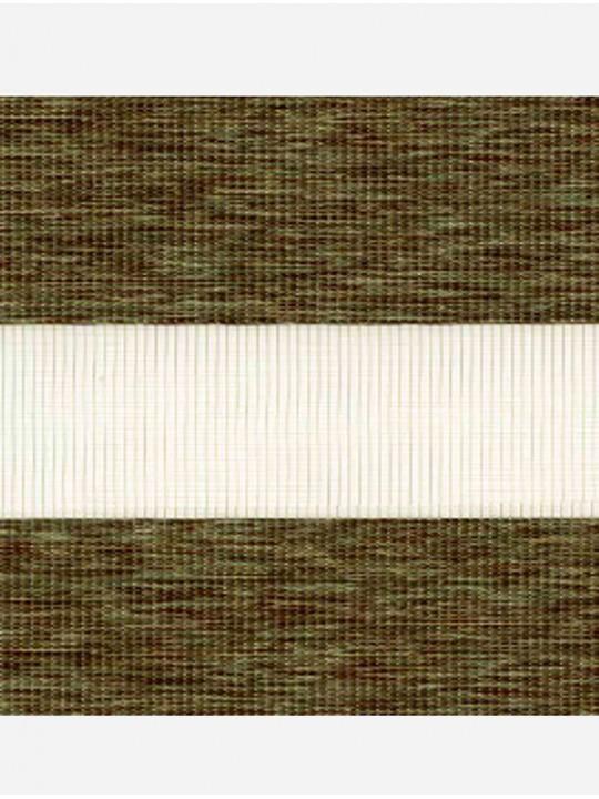 Рулонные жалюзи Зебра мини Этник зеленый