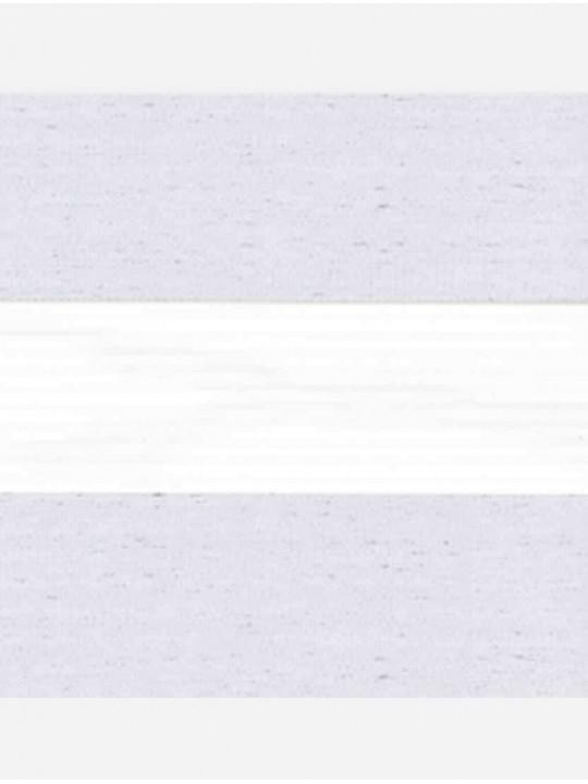 Рулонные жалюзи Зебра мини Лофт блэкаут белый