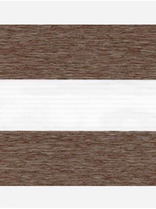 Рулонные жалюзи Зебра мини Лофт блэкаут коричневый