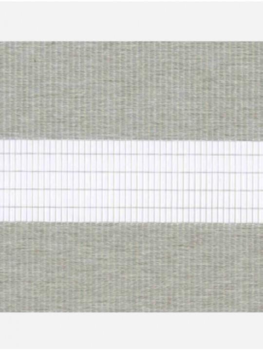 Рулонные жалюзи Зебра-MGS Металлик светло-серый