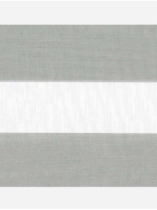 Рулонные жалюзи Зебра мини Металлик светло-серый