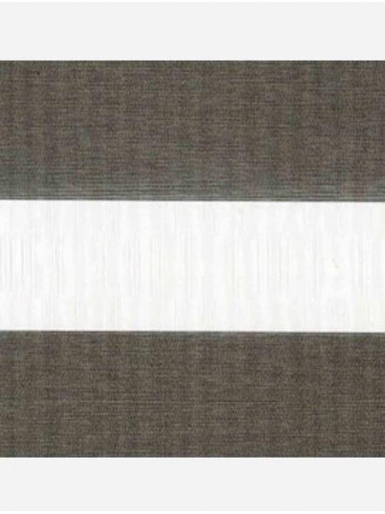 Рулонные жалюзи Зебра мини Металлик темно-серый