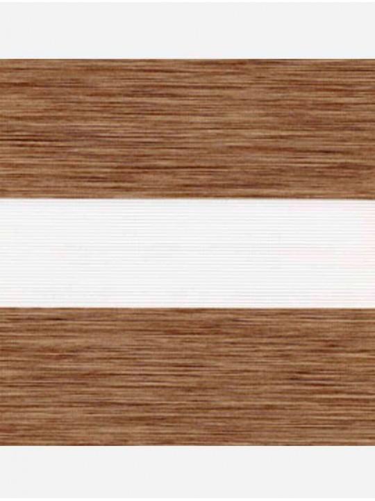 Рулонные жалюзи Зебра-MGS Монтана светло-коричневый