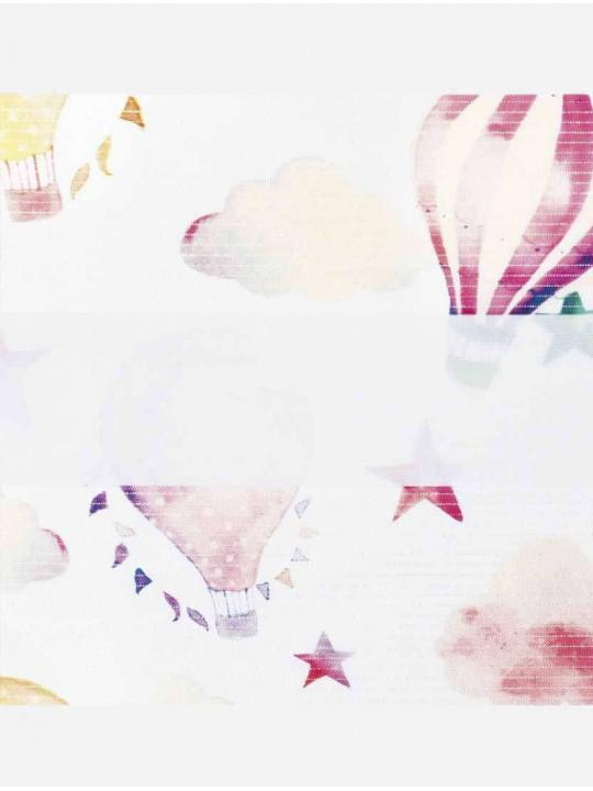 Рулонные жалюзи Зебра Уни-2 Облака розовый