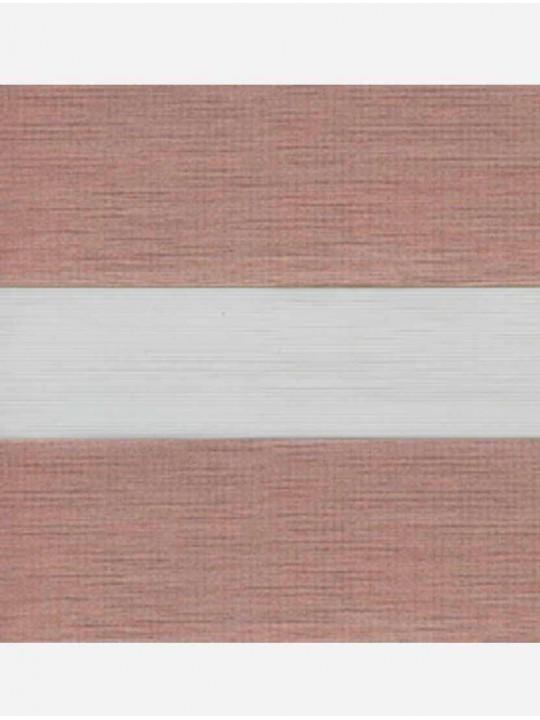 Рулонные жалюзи Зебра Уни-2 Палас розовое золото