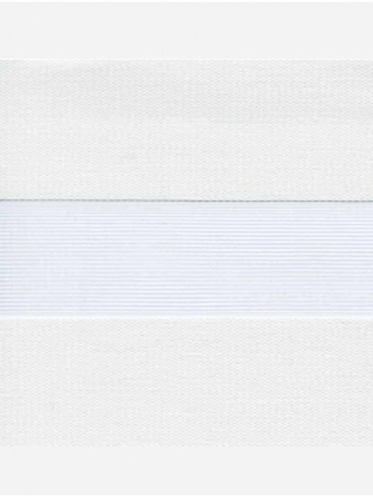 Рулонные жалюзи Зебра Уни-2 Лофт блэкаут белый