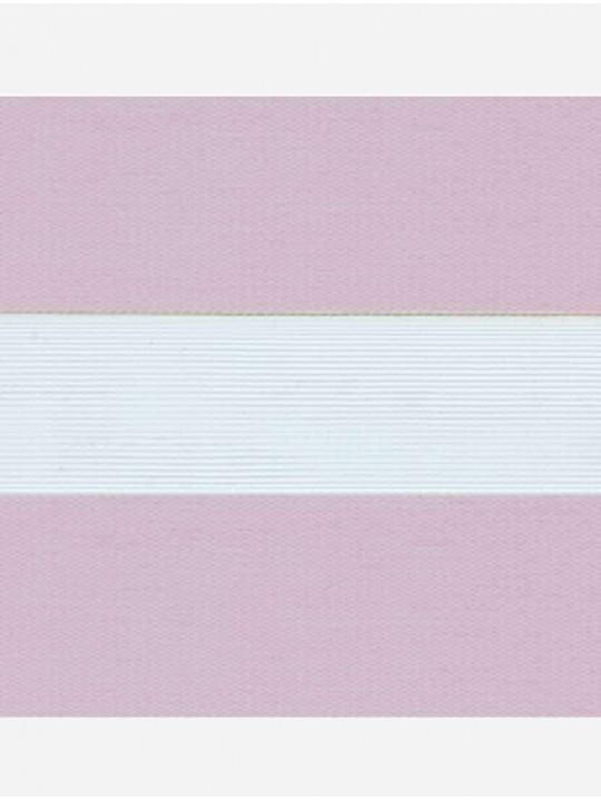 Рулонные жалюзи Зебра мини Софт светло-лиловый