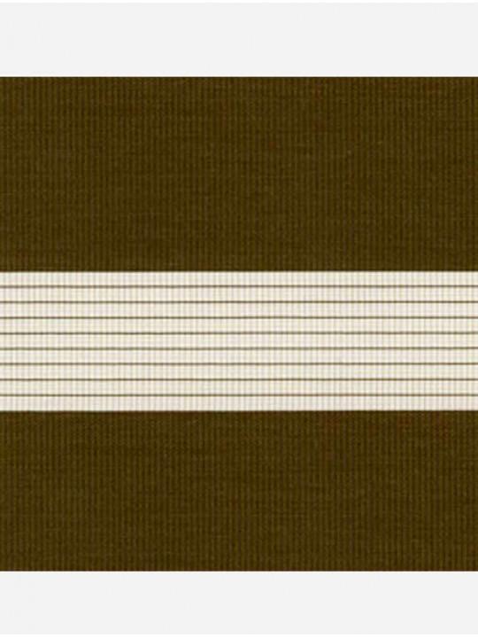 Рулонные жалюзи Зебра мини Стандарт коричневый