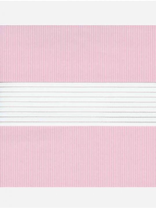 Рулонные жалюзи Зебра-LVT Стандарт светло-розовый