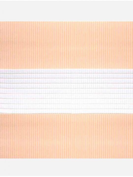 Рулонные жалюзи Зебра-MGS Стандарт персик