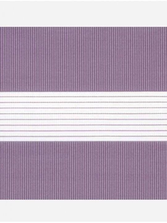Рулонные жалюзи Зебра-MGS Стандарт лиловый