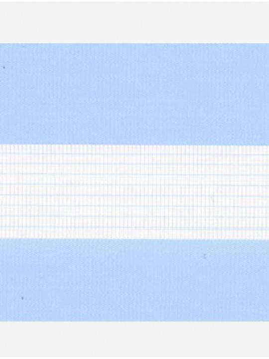 Рулонные жалюзи Зебра мини Стандарт светло-голубой