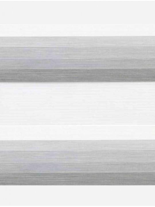 Рулонные жалюзи Зебра мини Степ серый