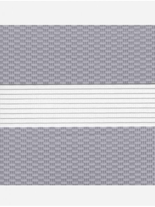 Рулонные жалюзи Зебра Уни-2 Тетрис серый