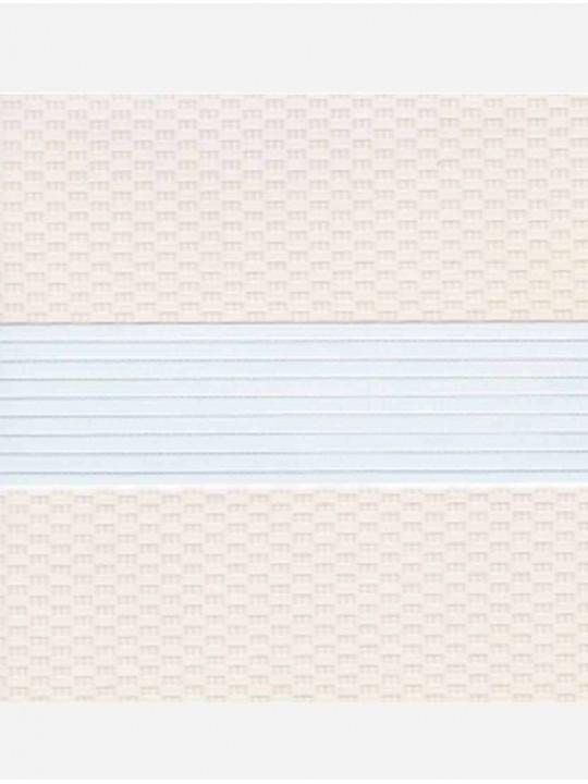 Рулонные жалюзи Зебра мини Тетрис светло-бежевый