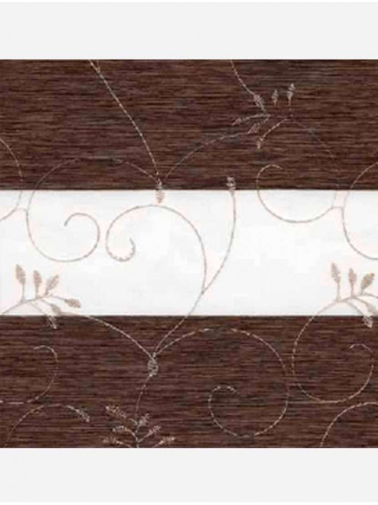 Рулонные жалюзи Зебра мини Валенсия темно-коричневый
